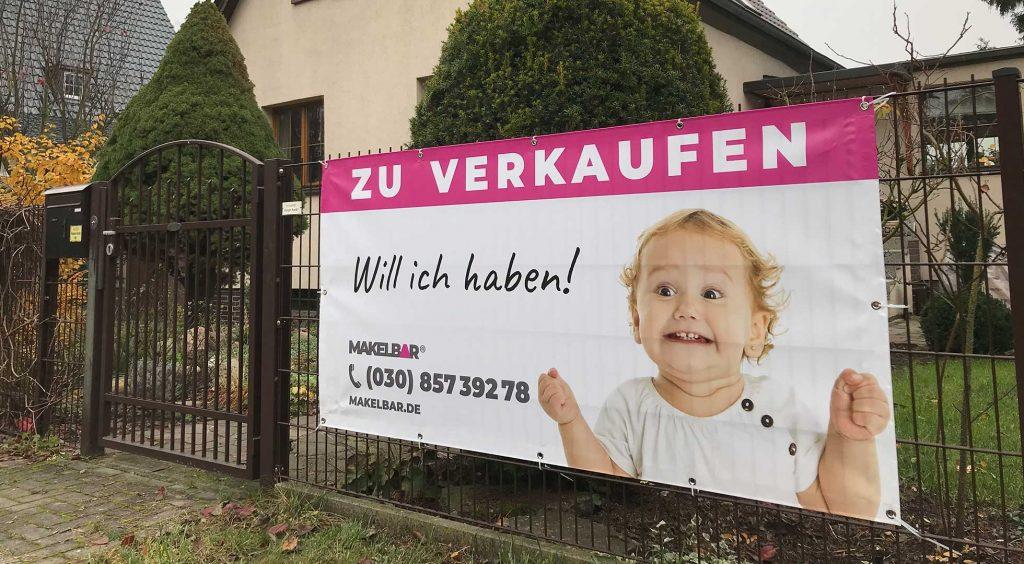 "Makelbar Banner ""Zu Verkaufen"""