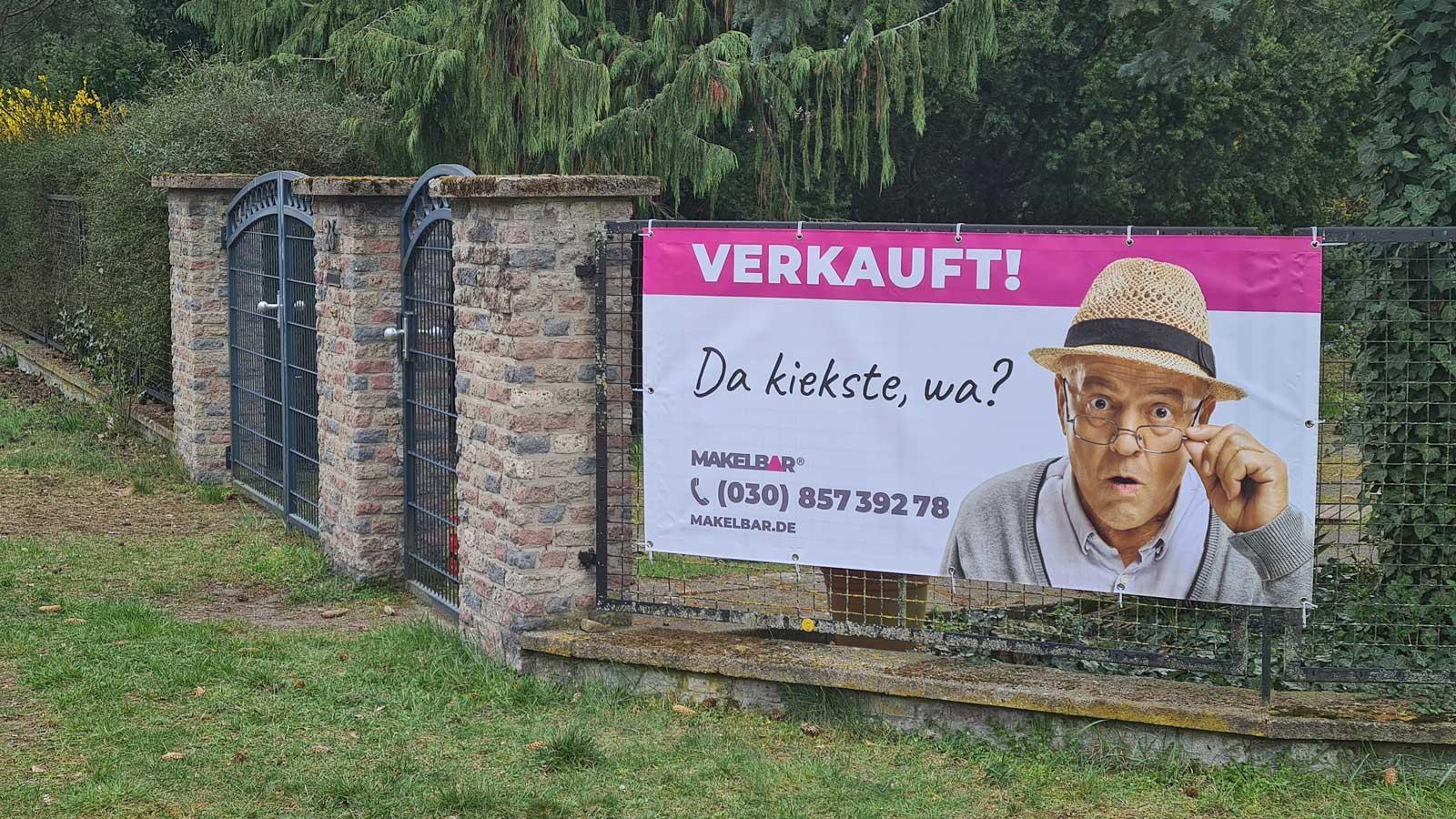Banner - Werbung am Objekt