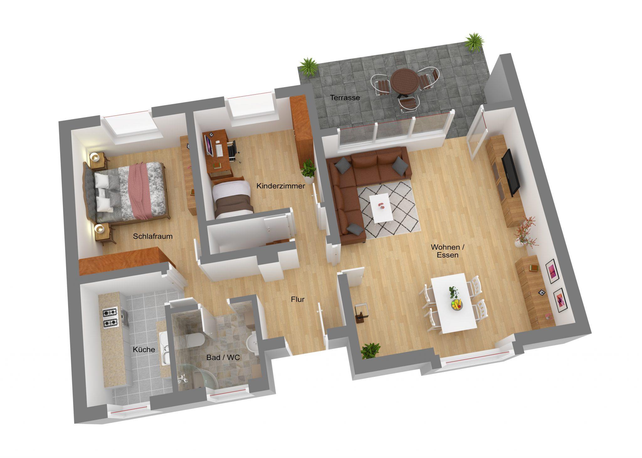 Einfamilienhaus in Berlin Kauldorf - Grundriss EG